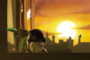 Puppet sunset by Manin