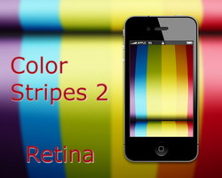 Color Stripes 2 iPhone 4 Wall by biggzyn80