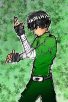 Rock Lee in training by Kamikashi