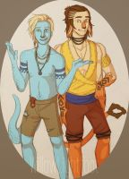 Kiet and Galen (Trade) by WillowLightfoot
