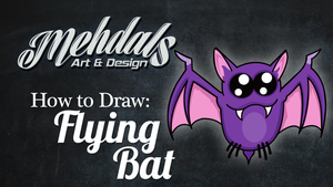 How to Draw a Flying Bat by Mehdals
