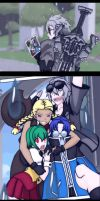 RWBY X OC Garrett Strider's former team by NIGHTMAREZENUKI