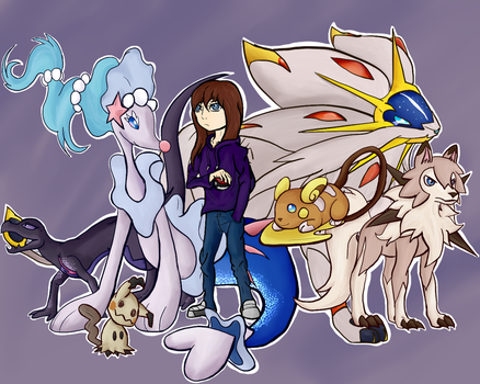 My Pokemon Sun Team by iiDrBubbles