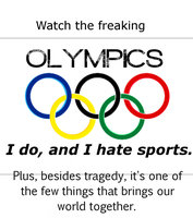 Watch The Olympics!!! by 4thElementGraphics