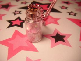 sweet love potion necklace by leggsXisXawsome