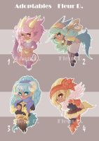ADOPTABLES + OPEN+ by Flfleur
