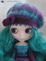 Multi-color beret for Blythe by kivrin82