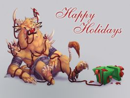 Charr Holiday by goosezilla