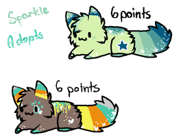 Sparkle Adopts-6 Points each *OPEN* by Pixel-Candy