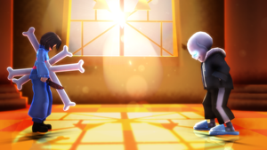 MMD/ Undertale / The last battle by ArcticWolfOfficial