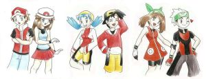 pokemon trainers all together by angel-smw