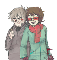 Humanstuck Karkat and Terezi by Fuocofuu