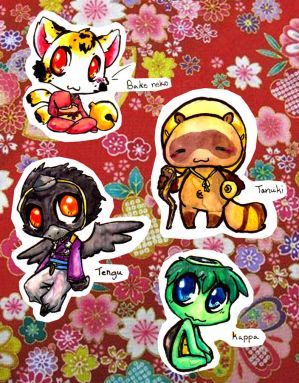 Japanese mythical creatures chibi's 1