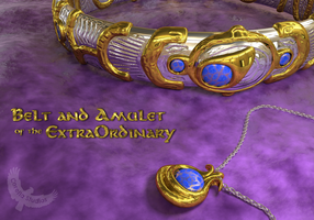 Belt and Amulet of the ExtraOrdinary by CorellaStudios