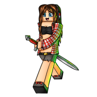 Minecraft Avatar - MrsGirlGaming by GoldSolace