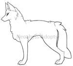 (P2U) Canine/Wolf Base by NeoAbyss-Adopts