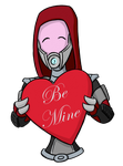 Be Mine: Quarian by fakefrogs