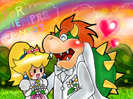 Bowser Y Peach by Goombarina