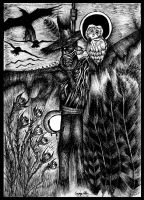 The Scarecrow And The Midnight Owl by GeoFam