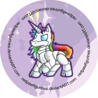 Robot Unicorn Badge by RedPawDesigns