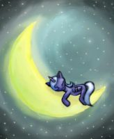 MLP:FIM Sleepy Luna by JoyWillCome