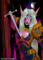 Commissioned NE Rogue from World of Warcraft by ZOMBGIEF