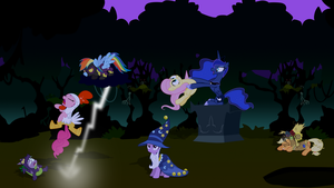 MLP dysfunctional Nightmare Night by sakatagintoki117