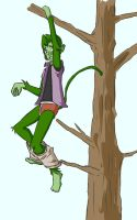 Beast Boy Pantsed by thewedgieboy