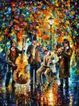 Glowing Evening oil painting by Leonid Afremov by Leonidafremov