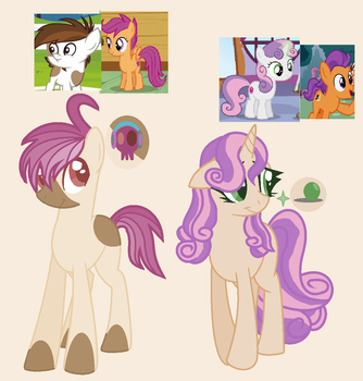 Scotaloo And Swetee Bell kids by BlueberryMuffin02