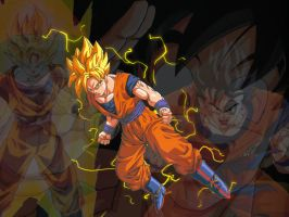 Goku Wallpaper by wolfkid15