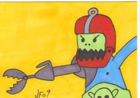 Trapjaw Sketch Card by Robomonkey82