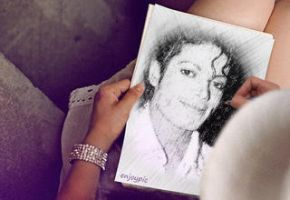 Michael jackson sketch by Becky123190