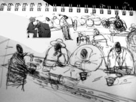 sitting at the jazz bar by alsature