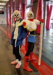 Otakuthon 2016 - Papyrus and Sans Cosplays by Cassandrina
