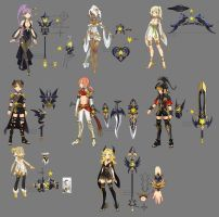 Dragon nest myth weapons by ZiyoLing
