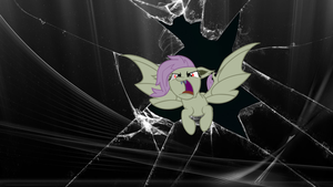 FlutterBat crash in wallpaper by RaverMonki