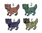puppy Adoptables 1 *OPEN* by WhiteTigerGinger