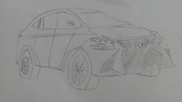 2018 Lexus LS 500h, But in poorly drawing. by nanandmic567