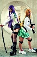 Rei and Saeko - HOTD by TsubameRain