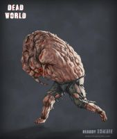 Dead World - Headdy Zombie by mikaelquites