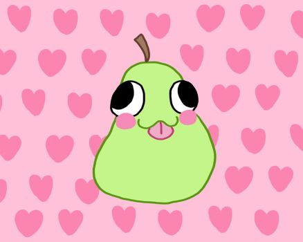 Lovey Pear Bids You Hello! by HopeMcKin
