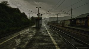 Rainy Station by jointadventure