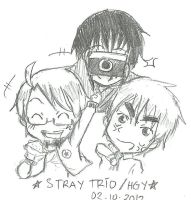 Stray Trio - Hagure Mischief by Roello-G