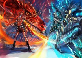 lvge_Red vs Cyan by egosun