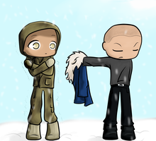 Mick and Snart - Take my parka by BIazeRod