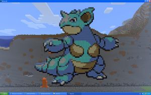 Nidoqueen On Minecraft by Miccopicco