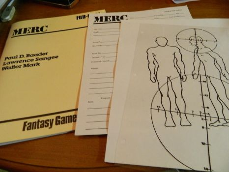 MERC rulebook, character sheet and profile by Mana-Junkie
