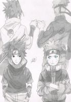 Naruto and Sasuke by jetg10