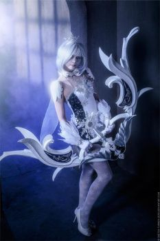 Aion 2.7. Tac Officer Divine Leather set_In blue by IcyIrena